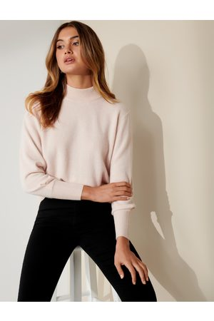 Forever New Women's Sasha Cashmere Jumper in Soft Oatmeal, Size Small 100% Cashmere