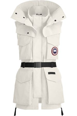 Canada Goose X Angel Chen belted longline gilet