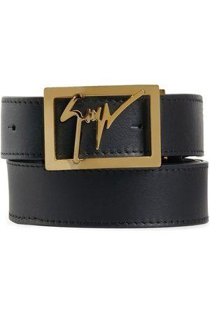 Giuseppe Zanotti Logo square buckle belt