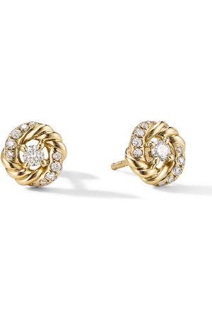 David Yurman Women Earrings - 8mm petite Infinity diamond stud earrings