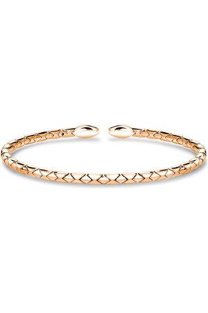 Pragnell 18kt rose Groove textured bangle bracelet