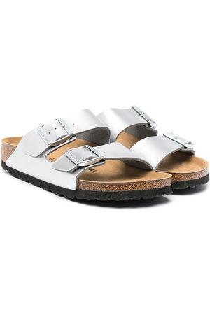 Birkenstock Sandals - Metallic pool slides