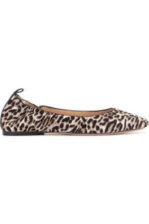 VERONICA BEARD Alison leopard-print ballerina shoes
