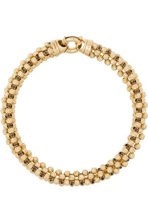 Adina Reyter 14kt yellow diamond-cut chunky-chain bracelet