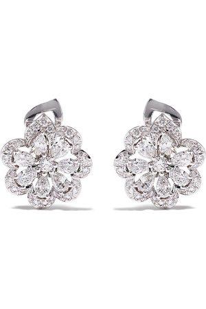 Chopard 18kt white gold diamond floral earrings