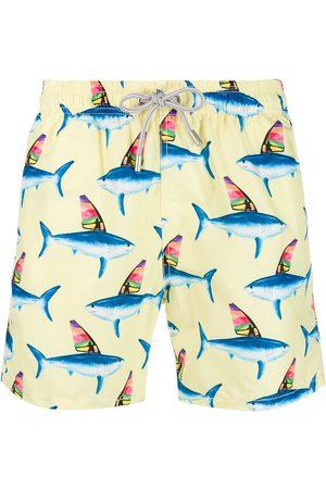 MC2 SAINT BARTH Shark print swim short