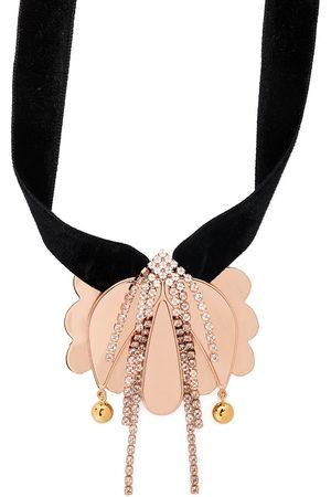 La DoubleJ Draped floral necklace