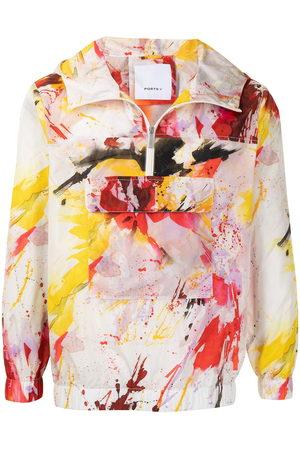 Ports V Graffiti-print pullover jacket