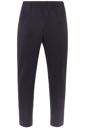 HOMME PLISSÉ ISSEY MIYAKE Technical-pleated Straight-leg Trousers - Mens - Navy