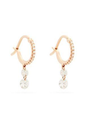 Raphaele Canot Set Free Diamond & 18kt Rose Hoop Earrings - Womens - Rose