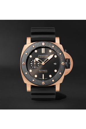 PANERAI Men Watches - Submersible OroCarbo Automatic 44mm Goldtech and Rubber Watch, Ref. No. PAM01070