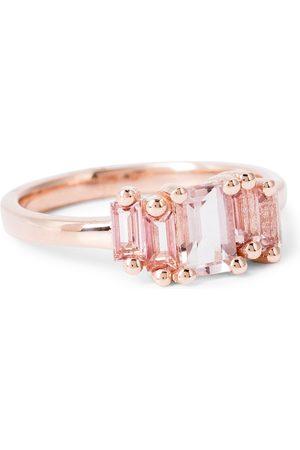 Suzanne Kalan 14kt rose ring with morganite