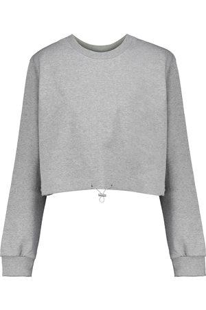 Frankie Shop Cropped cotton sweatshirt