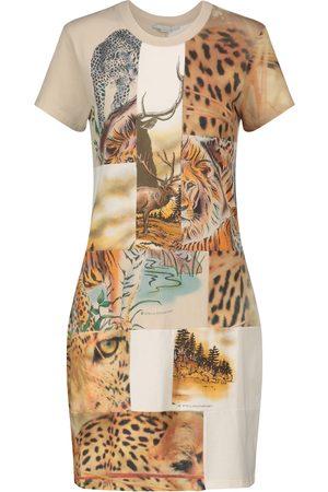 Stella McCartney Printed cotton-jersey minidress