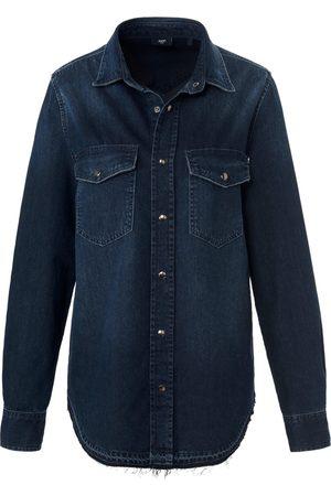 JOOP! Women Long sleeves - Long-sleeved denim shirt in 100% cotton denim size: 8
