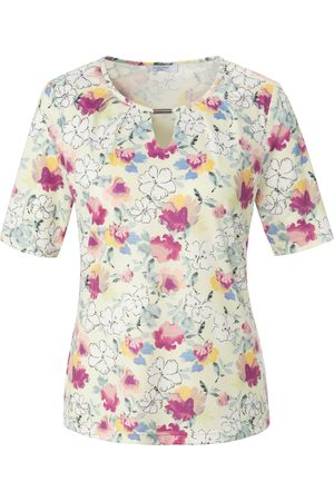 mayfair by Peter Hahn Round neck top short sleeves multicoloured size: 10