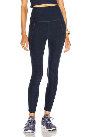 Beyond Yoga Spacedye Out Of Pocket High Waisted Midi Legging in Nocturnal Navy