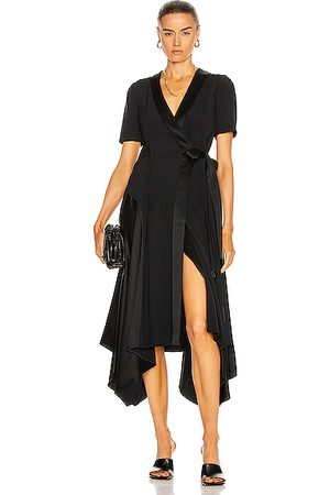 Loewe Asymmetric Wrap Dress in