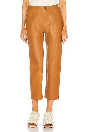 Citizens of Humanity Emma Leather Patch Pocket Pant in Golden Glow
