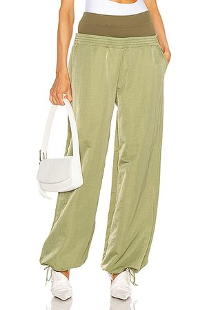 DION LEE Nylon Trackpant in Washed Olive