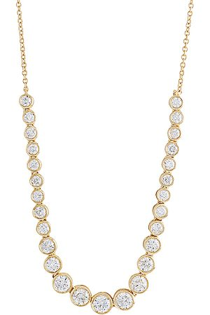 STONE AND STRAND Let It Slide Diamond Tennis Necklace in Gold & Diamond