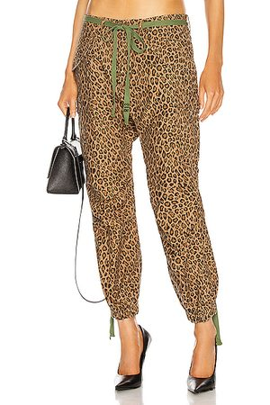 R13 Drop Crotch Cargo in Leopard
