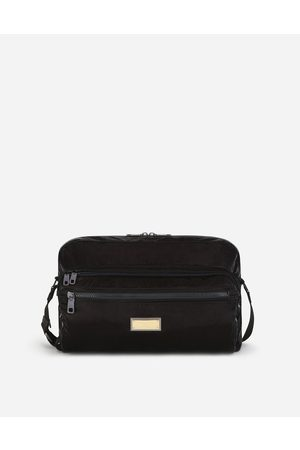 Dolce & Gabbana Crossbody Bags - NERO SICILIA DNA NYLON MESSENGER BAG WITH BRANDED TAG male OneSize
