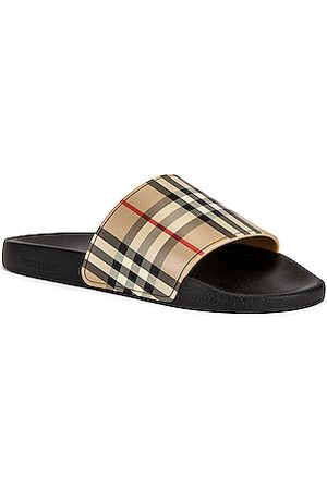 Burberry Furley M Check Slide in Archive