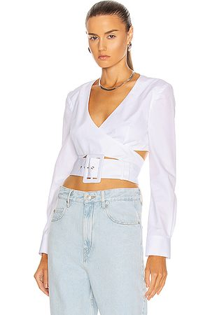 Rosie Assoulin Wrapped Belted Crop Top in