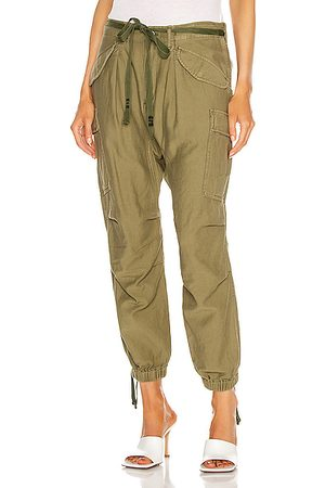R13 Drop Crotch Cargo Pant in Olive