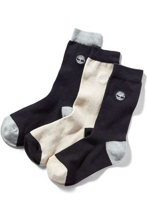 Timberland 3-pack ribbed crew socks for women in , size l