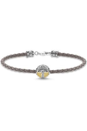 Thomas Sabo Leather bracelet tree of love gold A2013-682-5-L17