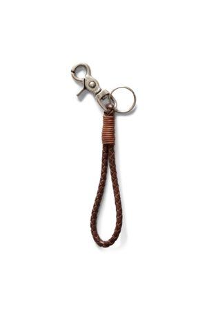 RRL Braided Leather Key Fob