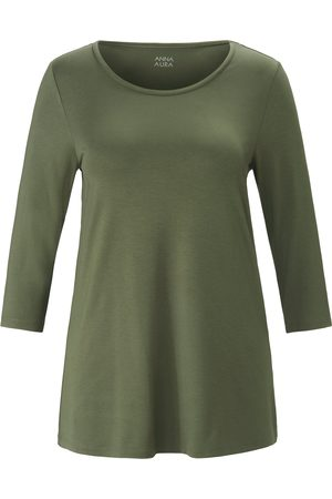 Anna Aura Round neck top 3/4-length sleeves size: 14