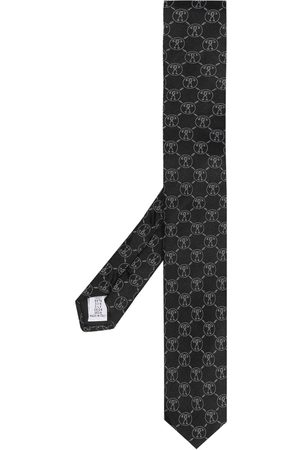 Moschino Patterned intarsia knit neck tie - Neutrals
