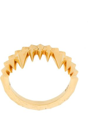 KASUN LONDON Crocodile Bite ring - Metallic