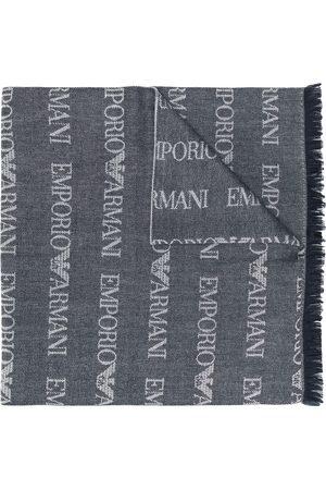 Emporio Armani Logo knit long scarf