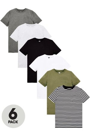 Very Boys 6 Pack Short Sleeve Pocket T-Shirts