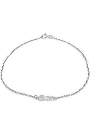 The Love Silver Collection Infinity Charm Clasp Anklet - Silver