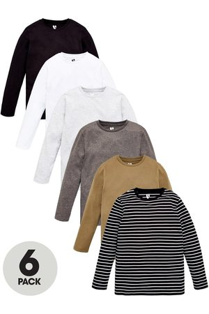 Very Boys Pack Of 6 Long Sleeve T-Shirts