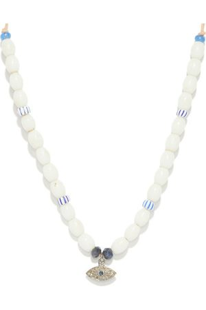 Musa by Bobbie Diamond, Sapphire & Glass Necklace - Womens