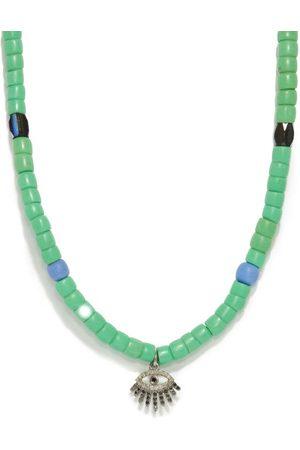 Musa by Bobbie Diamond Evil Eye-charm Beaded Necklace - Womens