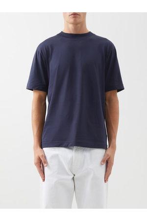 Sunspel Men T-shirts - Crew-neck Cotton-jersey T-shirt - Mens - Navy