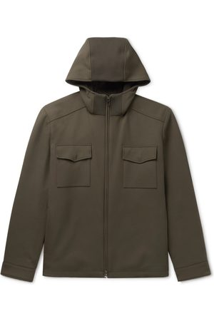 Loro Piana Holburn Rain System Stretch-Wool Hooded Jacket
