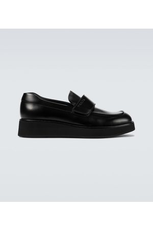 Prada Men Loafers - Brushed leather loafers
