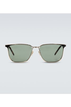 Saint Laurent Men Sunglasses - Square-framed metal sunglasses