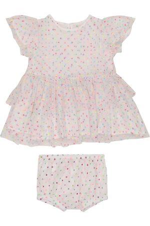 Stella McCartney Kids Girls Briefs - Baby polka-dot tulle dress and bloomers