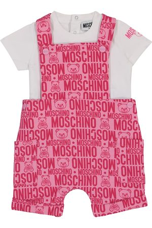 Moschino Baby stretch-cotton t-shirt and dungarees set