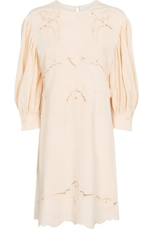 See By Chloé Puff sleeve cotton minidress