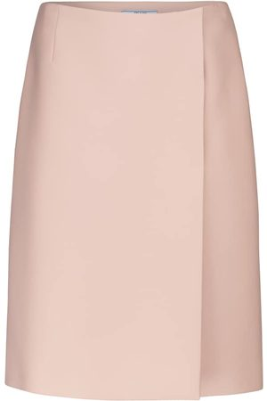 Prada High-rise wrap pencil skirt